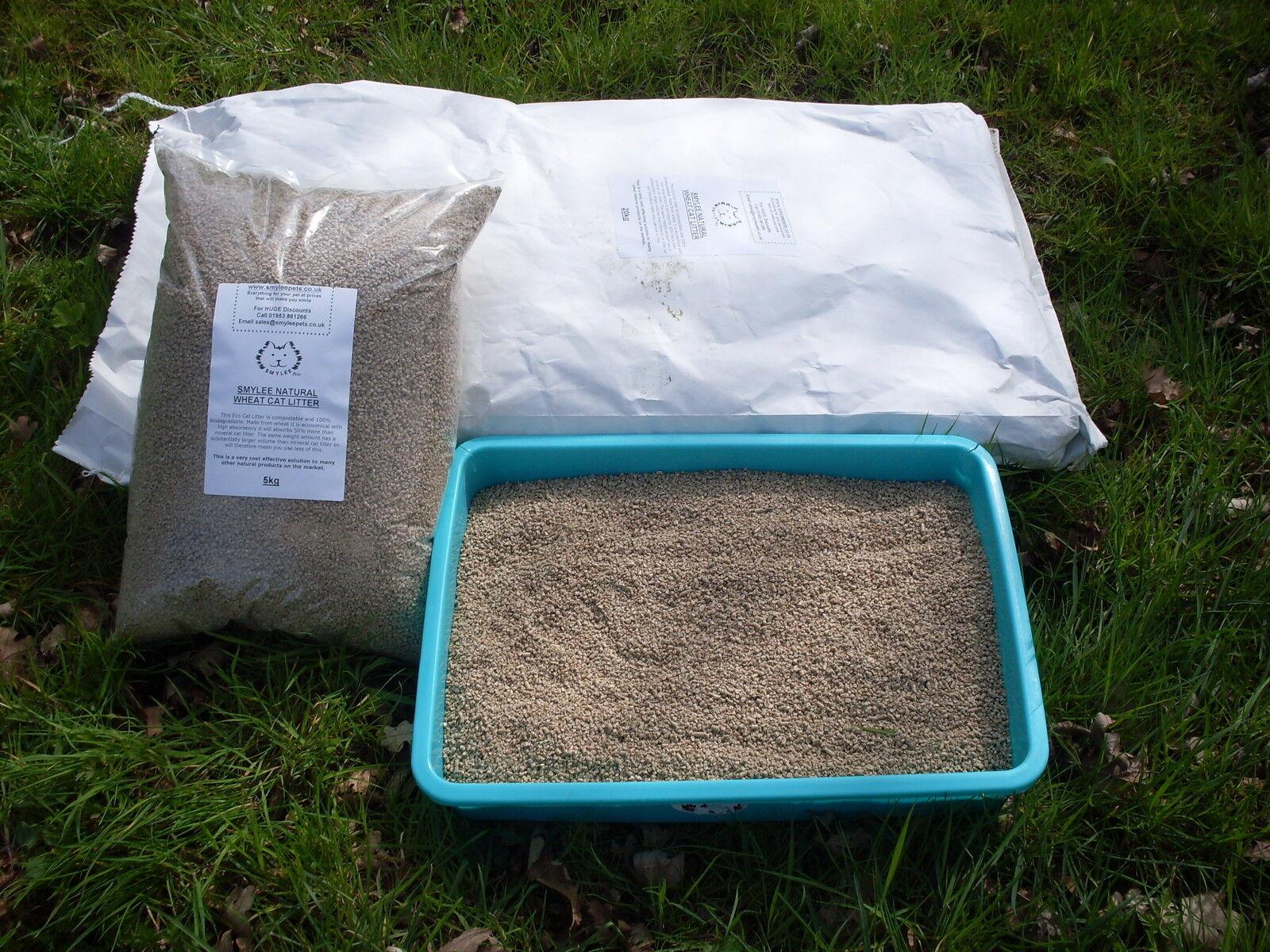 Smylee naturale grano super fine Agglutinazione Lettiera Gatto
