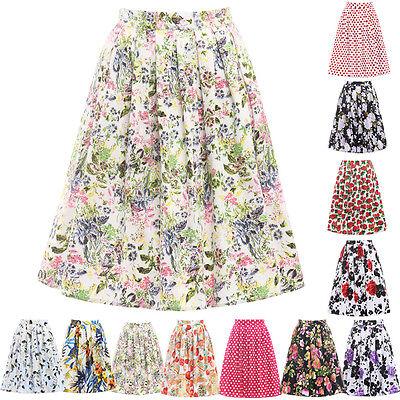 Vintage Floral Swing Women Sexy Party Costume Tutu Mini Skirt Dress Pettiskirt
