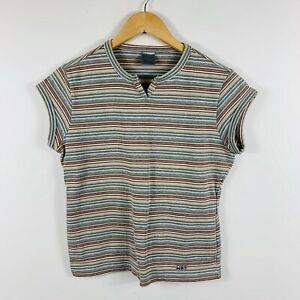 Nike-Womens-Tennis-Top-Size-Medium-8-10-Striped-With-Pockets-Great-Condition
