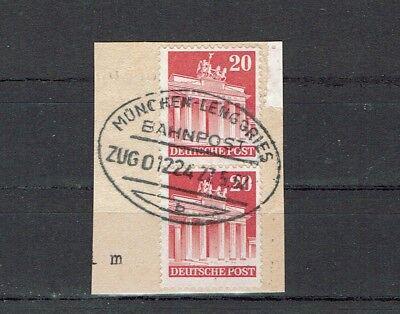 """Diverse Philatelie Briefmarken Konstruktiv Schöner Stempelabschlag Bahnpost """"münchen Lenggries"""" Zug 01224-27.5.52"""