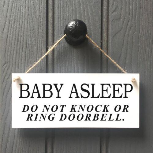 DO NOT DISTURB PLAQUE BABY SLEEPING DO NOT RING DOORBELL 186 BABY ASLEEP SIGN