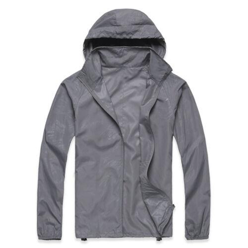 Women Men Rain Coat Hoodies Sweatshirt Jogging Hiking Waterproof Jacket Unisex