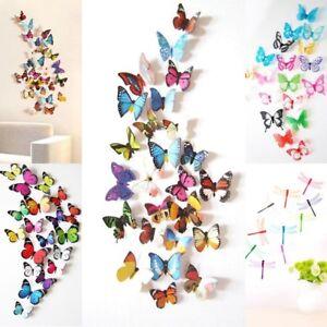 Stickers-muraux-de-Papillons-3D-Decorations-murales
