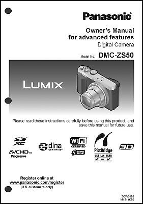 Panasonic lumix dmc-zs50 manuals.