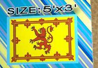 Scotland Flag Rampant Red Lion Large 5ft x 3ft Scottish