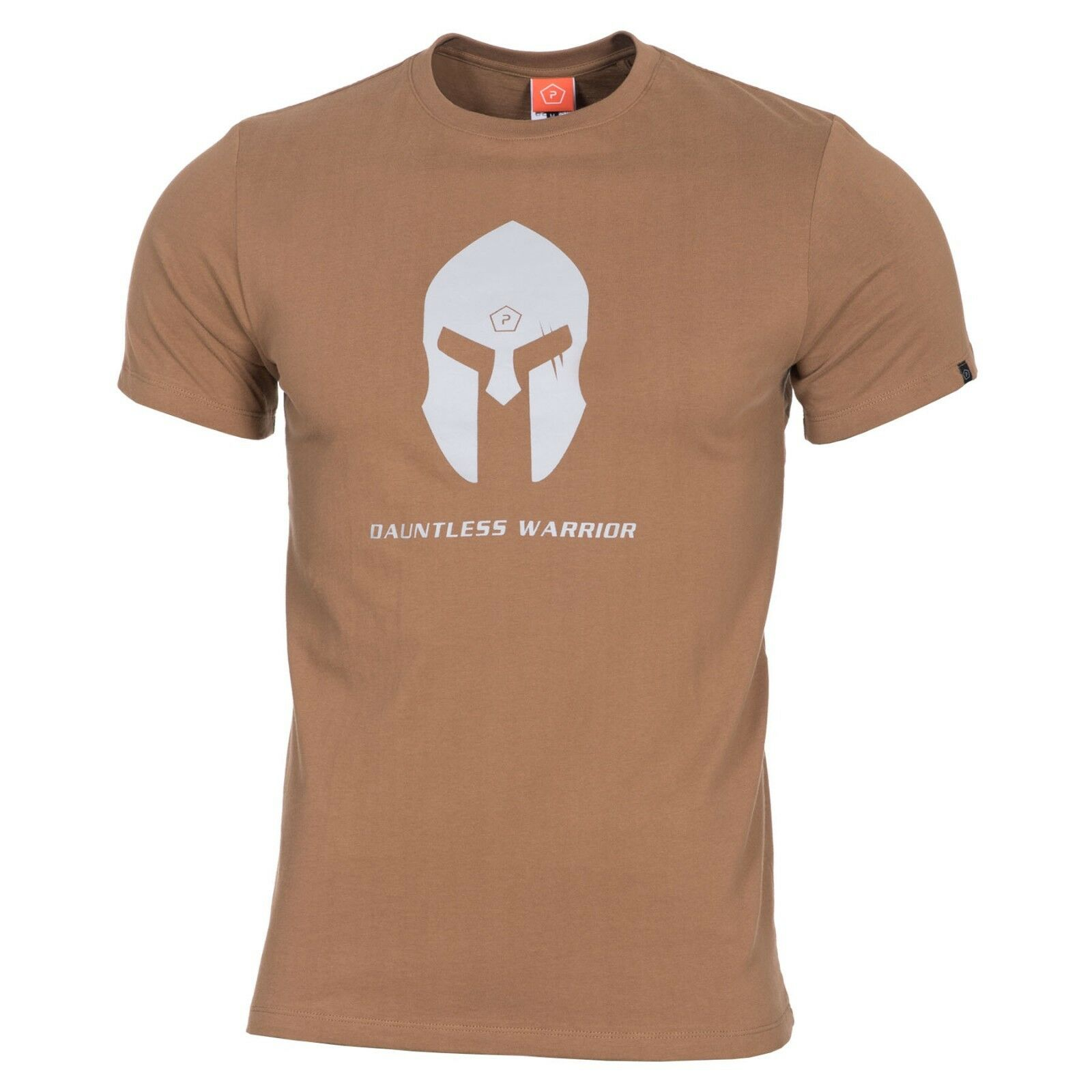 Pentagon Jersey-T-Shirt Mann Militär Spartan Helm coyote