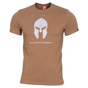 Pentagon T-shirt Maglia Uomo Militare Spartan Casco Coyote Un Style Actuel
