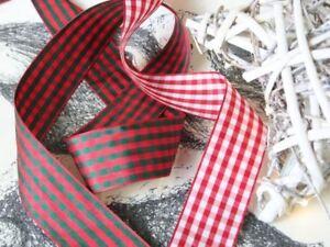 Wide-Gingham-Ribbon-Check-Ribbon-Christmas-Ribbon-By-the-Metre-40mm