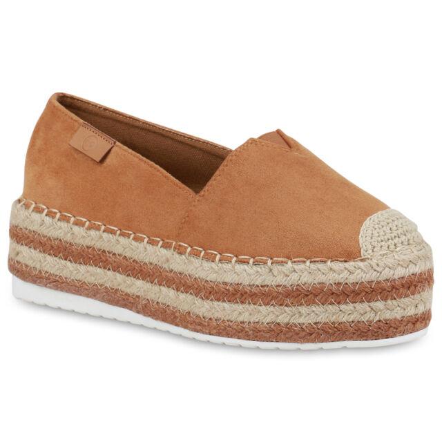 Damen Slippers Espadrilles Slip On Schuhe Pailletten Bast 823185 Trendy Neu