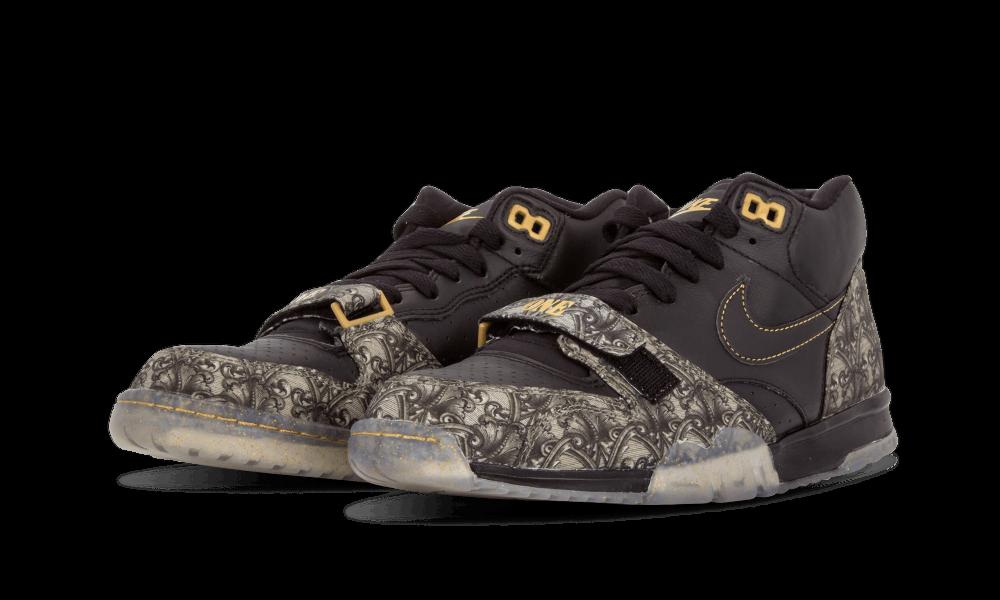 Nike air trainer 1. mitte - voll schwarzes bezahlt, sz 12 schwarzes voll gold mehr geld währung bo 745a7e