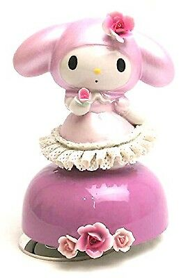 My Melody 40th Porcelain Lace Doll Music Box Plush Figure Ceramic state Ornament
