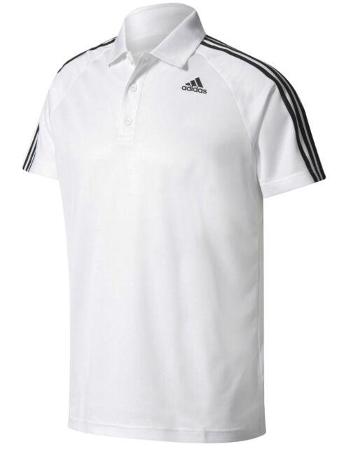 038ccdfe New Men's Adidas Essentials Climalite Polo Shirt Tennis T-Shirt Top - White