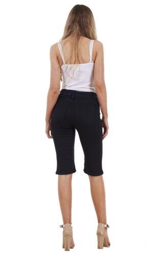 Ladies Denim Summer Holiday Womens Stretch Pockets Shorts