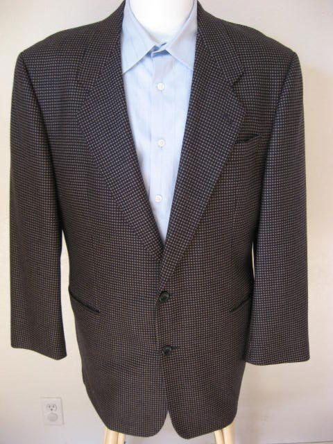Hugo Boss Blazer 42L Dark Navy Blau Delon Wool Sport Coat 42 LONG Classic