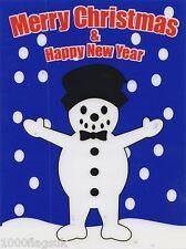 Christmas Cling On Vinyl Car Window Sticker - Snowman cc14