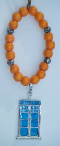 In Car Hanging Wood Wooden Beads /& Police Box Tardis Charm Pendant Souvenir Gift