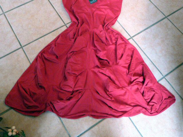 BORIS INDUSTRIES Kleid Raffungen 42 42 42 44 (3) NEU  rot  A-Form Blaume LAGENLOOK 0d68be