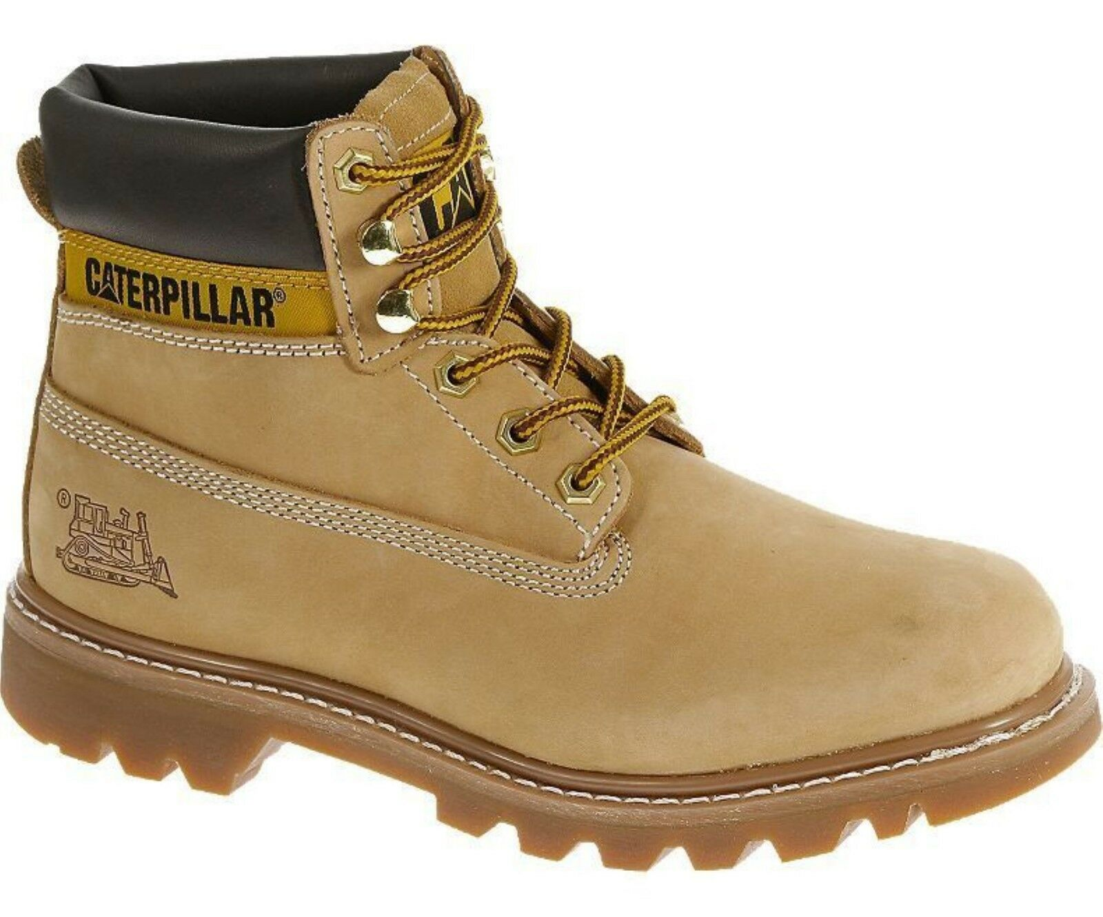 Caterpillar colorado Mens Honey Tan Nubuck Leather Upper Lace Up Ankle Boots