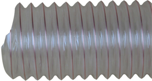 CHARNWOOD CLEAR FLEXIBLE WOOD DUST /& CHIP EXTRACTOR HOSE 125MM DIA 125FLEX