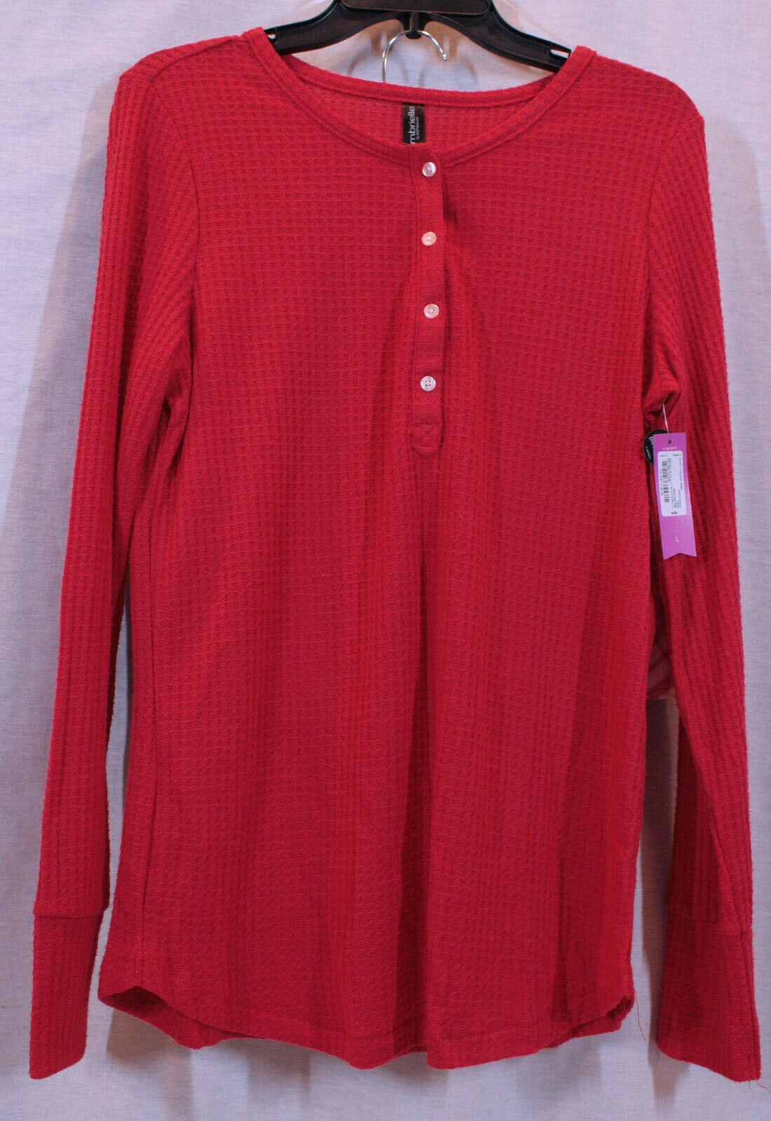 AMBRIELLE WOMANS RED & WHITE PAJAMAS SHORT PANTS SET SIZE LARGE NEW WITH TAGS