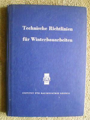 Ddr Buch 1956 Winterbaustellen Baumaschinen Erdarbeiten Elegantes Und Robustes Paket LiebenswüRdig Winterbauarbeiten Baugewerbe