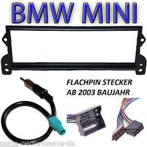 Einbauset-BMW-Mini-R50-R52-R53-Radioblende-Radio-Adapterkabel-Antennenadapter