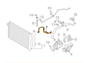 Details about BMW E60 E61 Refrigerant Discharge Hose Line 9117130  64509117130 GENUINE NEW