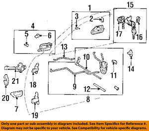 TOYOTA OEM 95-99 Avalon Front Door-Lock Latch Kit 69030AC010 | eBay