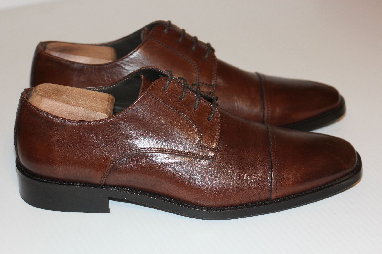 NEW To avvio New York 'Maxwell' Cap Toe Derby Oxford - Marronee Leather - 9.5 (W56)