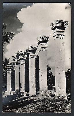 Postcard RPPC Ceylon Anuradhapura Stone Columns