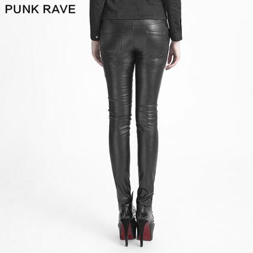 New PUNK RAVE Heavy Metal Rock Gothic Leather Black pants K-229 AUSTRALIAN STOCK