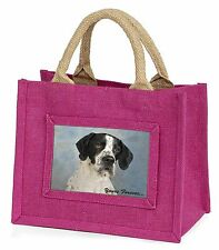 """English Pointer Dog """"Yours Forever..."""" Little Girls Small Pink Shopp, AD-EP1yBMP"""