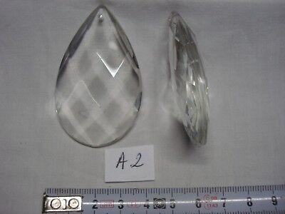 1 pampille en verre forme trapèze 58 mm réf G6