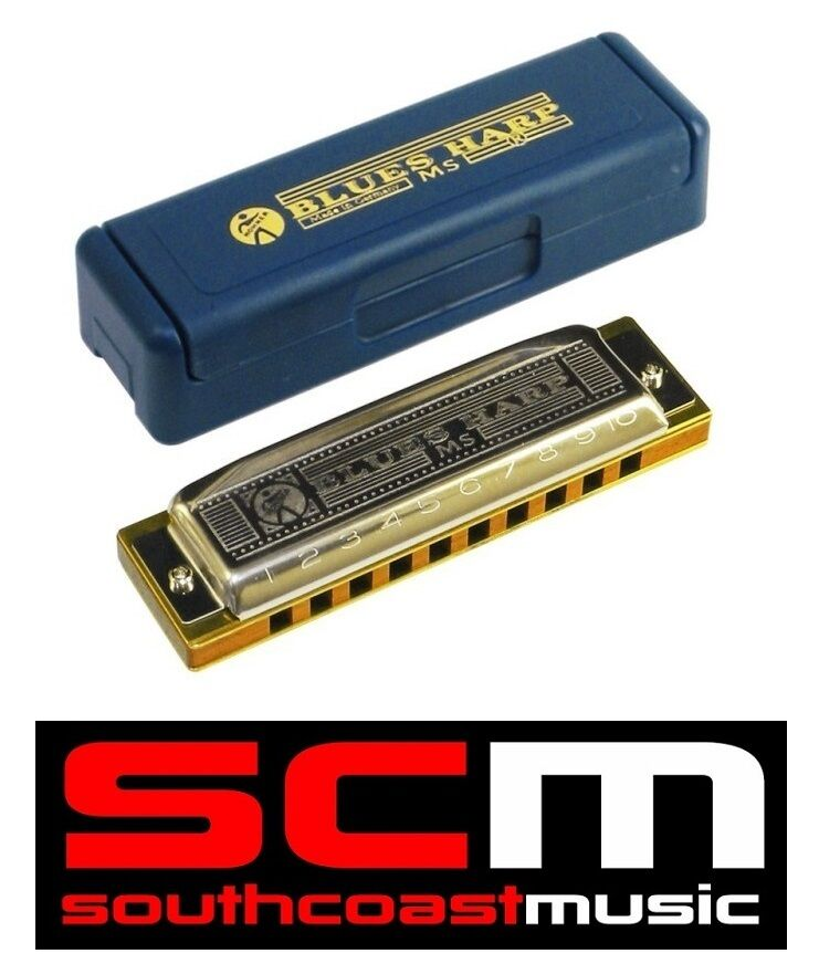 BRAND NEW HOHNER blueES HARP D HARMONICA 10 HOLE 20 REED 532 20