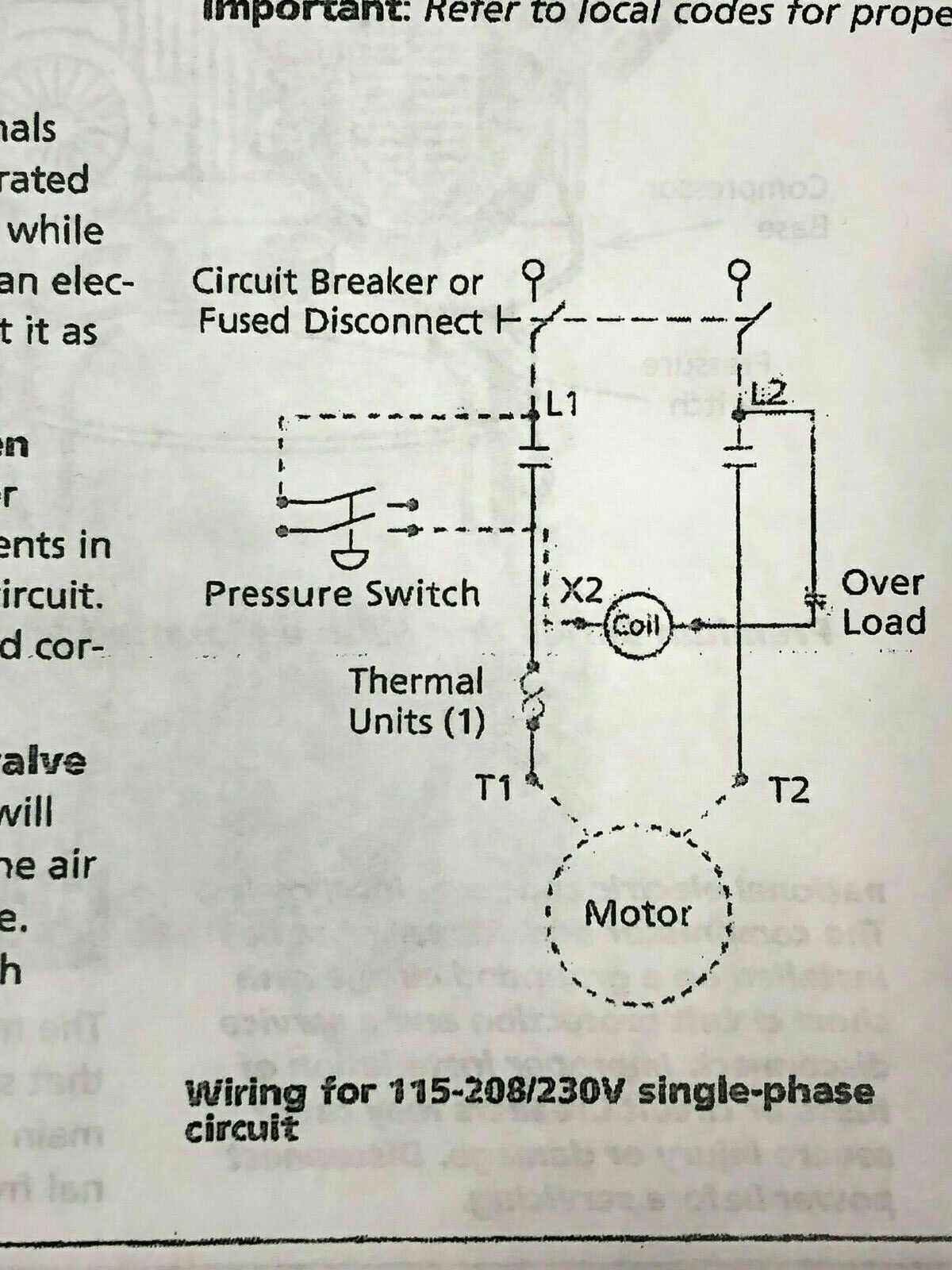sanborn air compressor centrifugal switch with wiring diagram chicago pneumatic magnetic starter 5hp single phase 208 240 volt  5hp single phase 208 240 volt