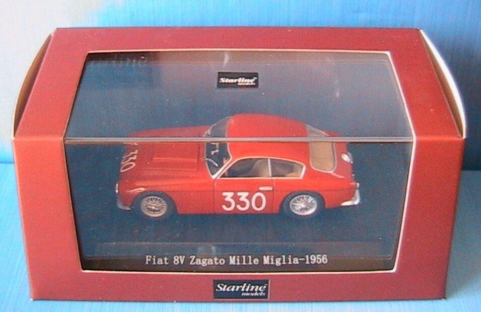 FIAT 8V ZAGATO  330 MILLE MIGLIA STARLINE 518116 1 43 1000 ITALIA rouge rouge rouge