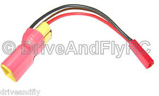 XT60 Male XT60 Female JST male in-line power adapter Lipo connector use with FPV