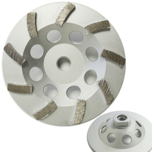 "5"" Spiral Turbo Diamond Cup Wheel for Concrete Grinding 9 Segs 5//8""-11 Arbor"