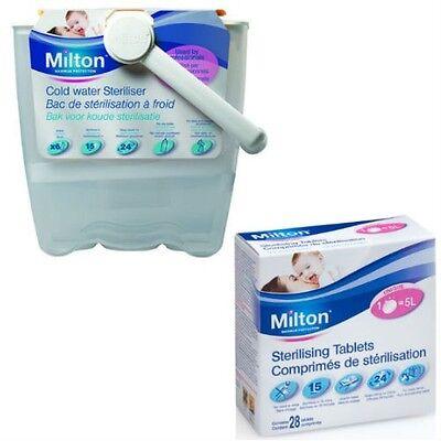 Milton Cold Water Baby Bottle Equipment Steriliser Ideal for Travel + 56 Tablets