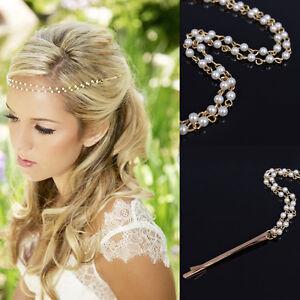 Chic-Women-Handmade-Pearl-Tassel-Head-Chain-Jewelry-Headband-Headpiece-Hair-Band