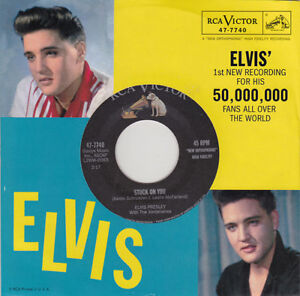 ELVIS-PRESLEY-Stuck-On-You-ps-red-rotes-vinyl-7-034