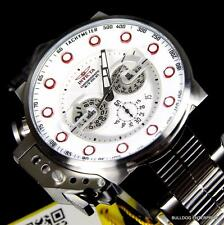 Mens Invicta I Force Bomber Chronograph Silver Stainless Steel 50mm Watch New