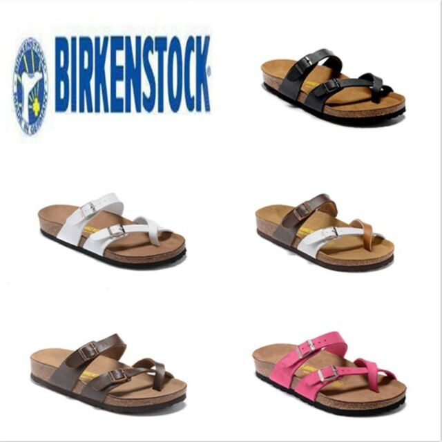 New Birkenstock Mayari Birko Flor Sandals Women's Shoes EVA Sole Block full size