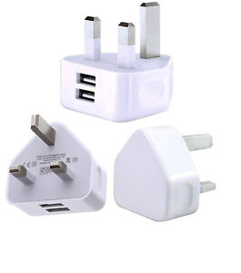 UK-Mains-Wall-3-Pin-Plug-Adaptor-Charger-with-2-USB-Ports-for-Phones-Tablets