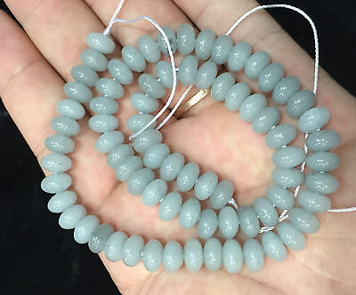 "5x8mm Brazilian natural Aquamarine Gem Loose Beads 15 """