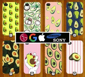 c54f4b4a Image is loading Avocado-Phone-Case-Cover-Novelty-Funny-Avocados-Pink-