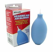 2 Pk Hearing Aid Air Blower Cleaner Remove Moisture Earwax From Earmold & Tubes