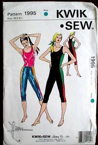 Kwik-Sew-Sewing-Pattern-no-1995-LADIES-GYM-WEAR-Size-XS-S-M-L-UNCUT