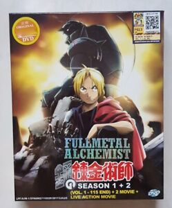 Anime DVD Fullmetal Alchemist COMPLETE Series + 2 Movie ...