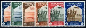 ITALIENISCH-TRIPOLITANIEN-1934-229-234-FLUGPOST-SATZ-25-I2387
